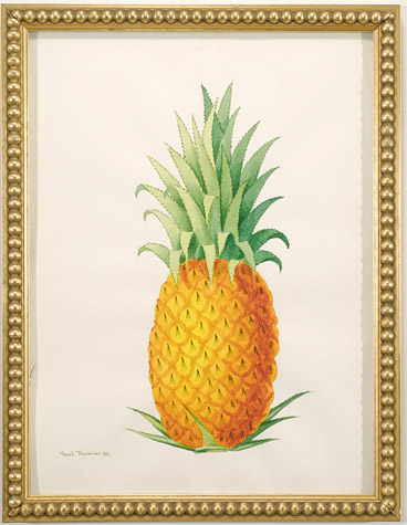 Watercolor of a Pineapple