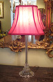 Glass Vanity Lamp with Beaded Base