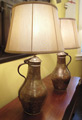 Pair of Steel and Copper Jug Lamps