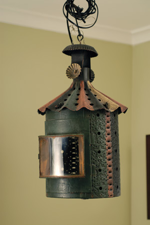 Mexican pierced tin lantern
