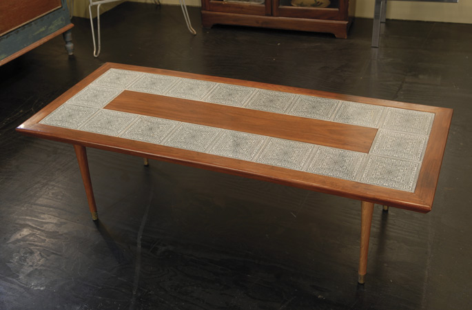 Coffee table with Zodiac tiles